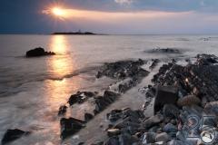 Punta Licosa e l'Isola di Licosa al tramonto